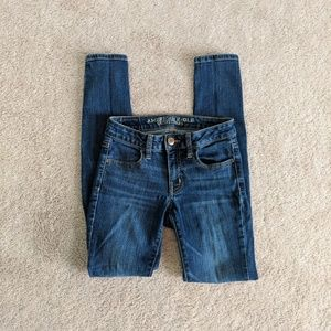 American Eagle Medium Wash Jeggings